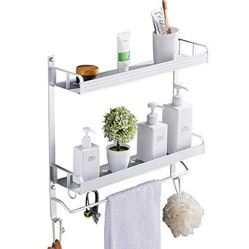 Creatieve opbergkast, eenvoudig van aluminium, 2 lagen, haken voor het reclamemateriaal, multifunctioneel, opslag, belasting 50 kg, voor keuken, badkamer