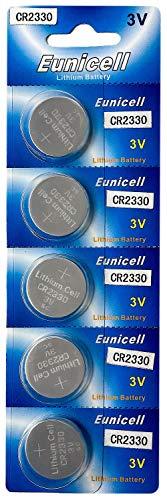 Eunicell 5 x CR2330 (1 Blistercard a 5 Batterie) EINWEG Markenware