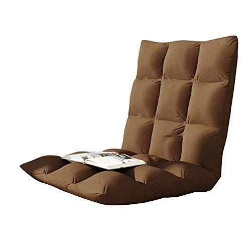 Axdwfd Chaise longue Fauteuil lounge, Fauteuil lounge créatif 78cm, 105cm rabattable avec baie vitrée Lazy Couch Tatami (Couleur : Brown, taille : 78cm)