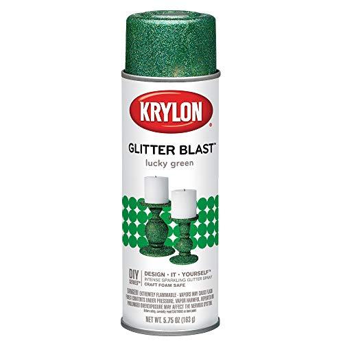 Krylon Glitter Blast Glitter Spray Paint for Craft Projects, Lucky Green Small Can