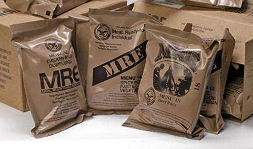 MREs (Meals Ready-to-Eat) Genuine U.S. Military Surplus Assorted Flavor (4-Pack)