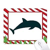 流線型のスイミングドルフィンブルーオーシャン ゴムクリスマスキャンディマウスパッド