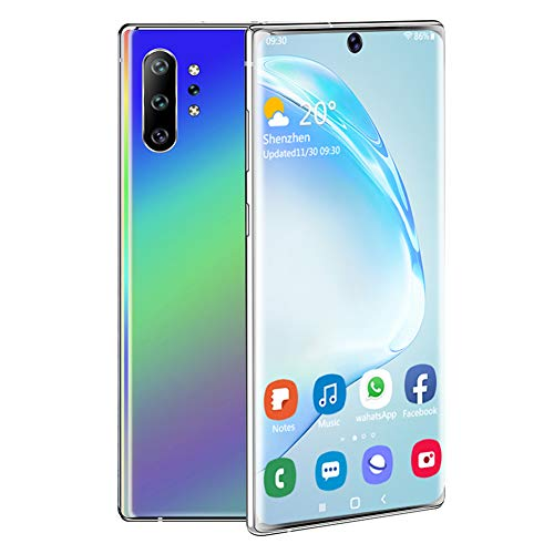 Unlocked Smartphone, 6.8' Ultra HD Incell Curved Screen Phone, 2+16G MTK6580P Four Core Mobile Phone, Dual SIM Cell Phone Unlocked, Free 128G Memory Card for Android 9.1 System (Colorful)