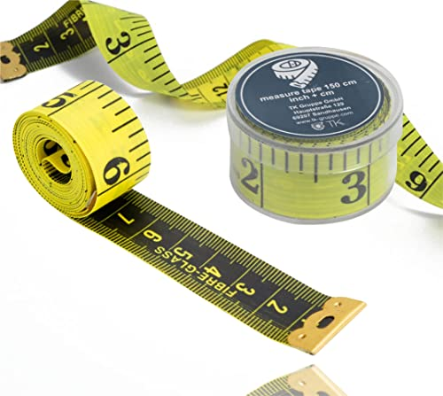 TK Gruppe Timo Klingler 2 in 1 - Massband cm + INCH Schneidermaßband 150 cm in Aufbwahrungsbox (1x Stück)