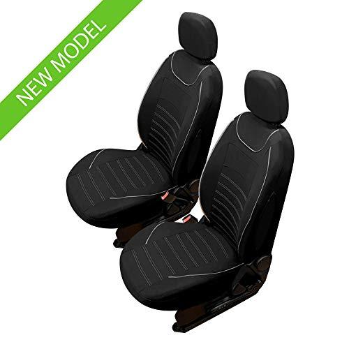 Coprisedili Anteriori Qashqai Versione (2006-2014) compatibili con sedili con airbag, con Fori per i poggiatesta e bracciolo Laterale