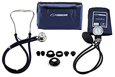 Primacare Medical Supplies DS-9181-BL Blue Professional Blood Pressure Kit with Sprague Rappaport Stethoscope from Primacare