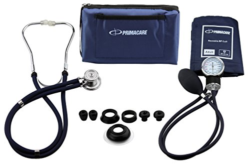 Primacare Medical Supplies DS-9181 bloeddrukmeter set met Sprague-Rappaport stethoscoop, blauw