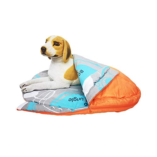 Cama para Perros de Felpa Suave y cálida Cama para Perros Cama para Dormir mullida sofá para Mascotas Perros pequeños y medianos de Varios tamaños -Naranja + patrón