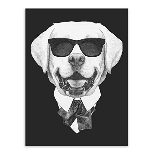 Moderne Canvas Prints Kunst Dier Portret Thuis Muurdecoratie Schilderij Hond Patroon Inkjet Foto Knappe Labrador 50x70cm Noframe