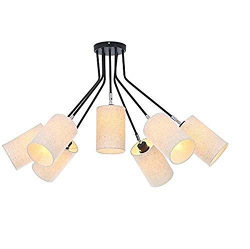 HYY-AA Luces Pendientes, 7 Luz contemporáneo Moderno de la lámpara de Techo de luz herraje Inicio Techo de la luz de la Sala Accesorios de Dormitorio (Color : C)