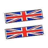 Futwod エンブレム プレートステッカー 3D アルミ製 ステッカー イギリス 国旗 フラッグ 防水 金属ステッカー カーステッカー かっこいい おしゃれ 金属 メタル デカール シール ラベル バッジ 車用 バイク オートバイ 自転車 スーツケース 汎用 装飾 飾り 2個セット