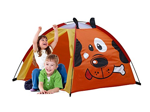 GigaTent Puppy Playhouse Kids' Dome Tent Easy to Set Up Carry Bag Included