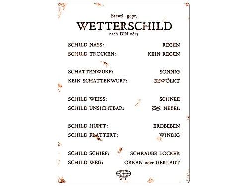 Interluxe METALLSCHILD Blechschild WANDSCHILD Retro WETTERSCHILD Shabby Vintage