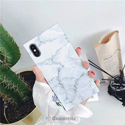 Cocomii Trunk Marble iPhone 8/iPhone 7 Case, Slim Thin Glossy Soft Flexible TPU Silicone Rubber Gel Square Edges Fashion Phone Case Bumper Cover for Apple iPhone 8/iPhone 7 (White)