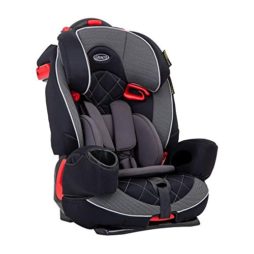 Graco Nautilus Elite Lunar Harnessed Booster Car Seat, Group 1/2/3, Black/Grey