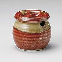 姿月窯 赤釉流口切ミニカメ 和食器 卓上小物 業務用 27-294-057-ka