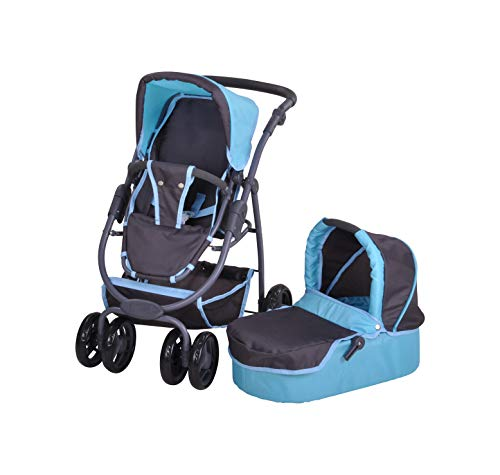 KNORRTOYS.COM Knorrtoys 90780 - Puppenwagen Coco Tec Blue