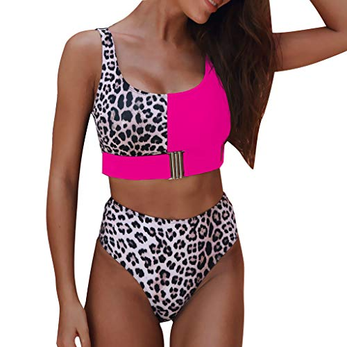 Women Sexy Leopard Print Buckle Bikini Set, Huazi2 Push Up Padded Swimwear Swimsuit Bathing Suit Ed Hardy Womens Swimwear