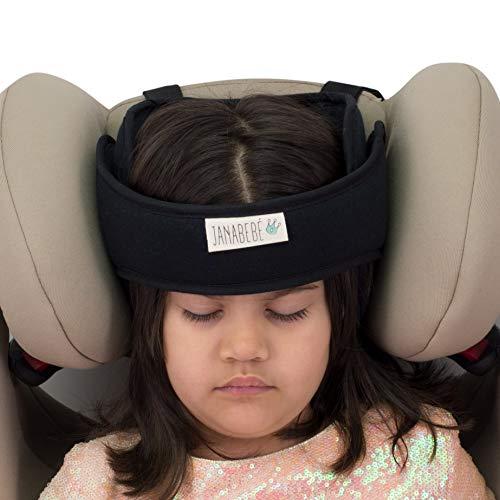 Janabebé Soporte de cabeza para niños en coche (Black Series)