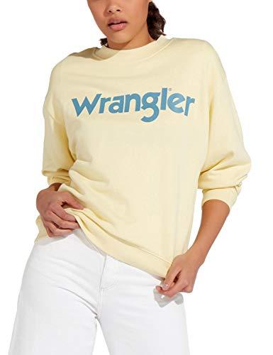 Wrangler 80´s Retro Sweat Sudadera, Amarillo (French Vanilla X6z), X-Small para Mujer