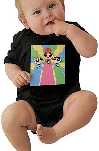 Powerpuff Girls Baby Outfits Short Sleeve T-Shirt Bodysuit Romper Black