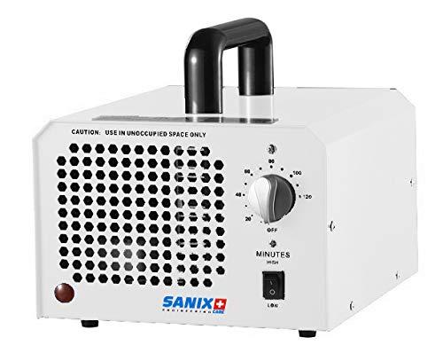Sanix Purificador de aire generador de ozono para espacios de hasta 120 m², temporizador de hasta 3 horas