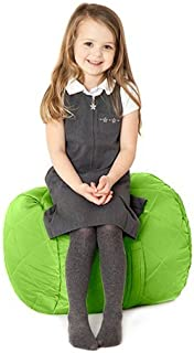 Fun ture Lime Green Quilted Water Resistant Round Bean Bag