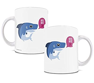 Cute Shark Mug – 11 oz White Ceramic Mug – Perfect for Gifting or Collecting