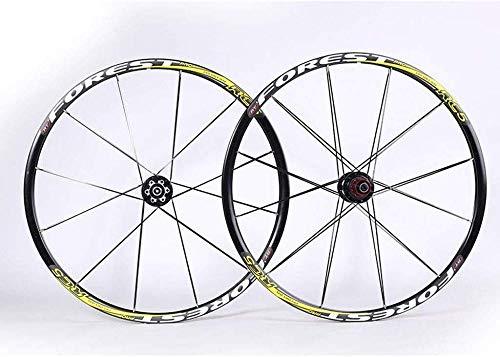 XIAOL 26 inch MTB-fietswielset, dubbelwandige MTB-velg Snelle release schijfrem Hybrid/mountainbike gatschijf 7 8 9 10 snelheid