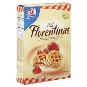 Gamesa Florentinas Cookies Tart With Strawberry Flavored Filling 12.3 Ounces