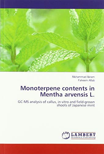 Monoterpene contents in Mentha arvensis L.: GC-MS analysis of callus, in vitro and field-grown shoots of Japanese mint