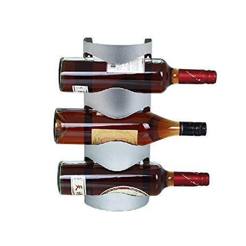 HBBOOI Freistehende Weinregal 3 oder 4-Bottle Wand- Metall Weinregal Platz sparen Schützen Weinflaschen Tischhalter for Study Room Wohnzimmer Esstisch (Größe : XXXL)