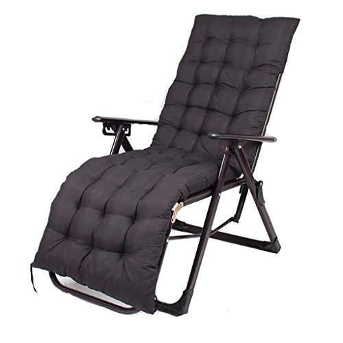 Pliable Portable Recliner en Plein Air Plage Chaise Bureau Nap Lit Retour Rotin Chaise Amis Rassemblement Peut Porter 200kg (avec Noir Long Mat)