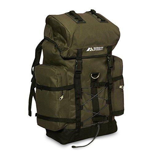 Everest Hiking Pack, Olive/Black, One Size