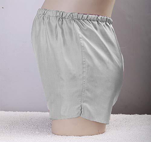 FACAI Schwangere Strahlenschutz Unterwäsche Höschen Seide Silberfaser Schwangere Strahlenschutz Shorts Weibliche Innenbekleidung,Silver-M