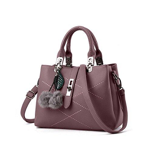 NICOLE & DORIS 2020 Neue Welle Paket Kuriertasche Damen weiblichen Beutel Handtaschen für Frauen Handtasche Dunkelviolett