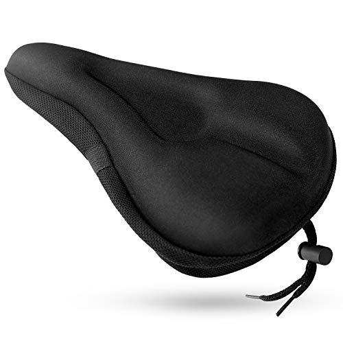 SUNNEY Funda para sillín de bicicleta con gel estrecho, acolchada, para bicicleta...