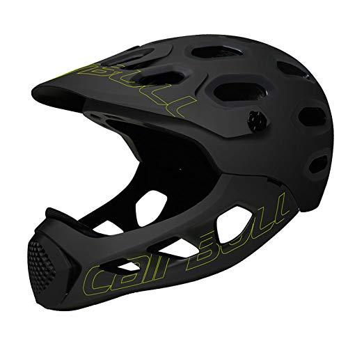 ASDFY Casco Deportivo de Alta Intensidad Casco Cubierto de Cara Completa para Adultos Off-Road MTB Bicicleta de Carretera Casco de Ciclismo de Seguridad para Deportes Extremos