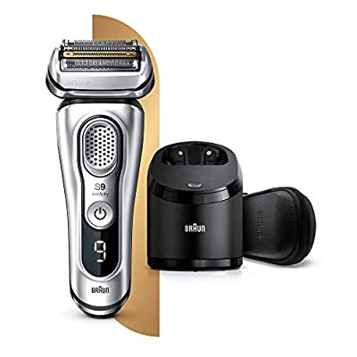 Braun Series 9 9390cc Latest Generation Electric Shaver, Clean and Charge Station, Leather Case, Silver from Procter & Gamble