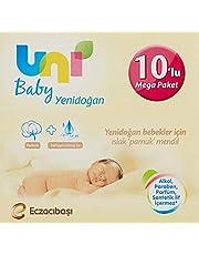 Uni Baby Yenidoğan Islak Mendili, 10'lu, 400 Yaprak