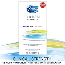 Secret Antiperspirant Deodorant for Women, Clinical Strength Invisible Solid, Stress Response, 1.6 O