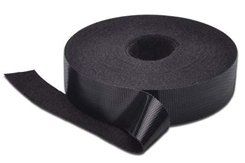 DIGITUS Klettband für Kabel-Management - 20mm Breite - One-Wrap - Klett & Flausch - 10m Rolle - Schwarz