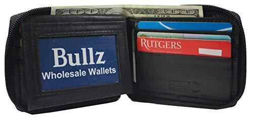 Bullz Mens Bifold Zipper Wallets