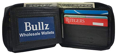Bullz Mens Bifold Zipper Wallets