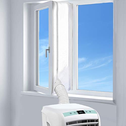 Fensterabdichtung für mobile Klimageräte, Wäschetrockner und Ablufttrockner | AirLock zum Anbringen an Fenster, Dachfenster, Flügelfenster - Umlaufmaß bis 400cm von AUGOLA