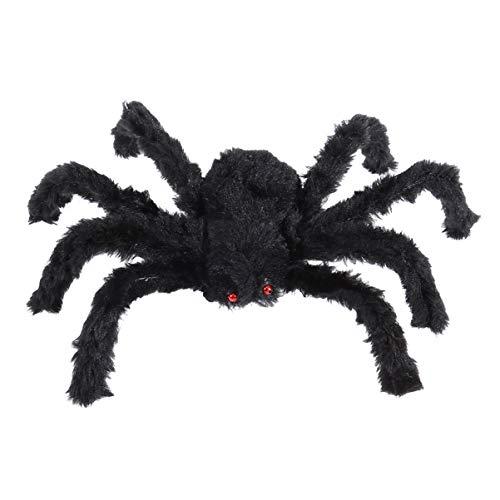 LIOOBO Halloween Schwarze Spinne Stütze gruselig Spukhaus Stütze gruselig Plüschtier für Halloween Streiche Kostüm Parteien Maskeraden