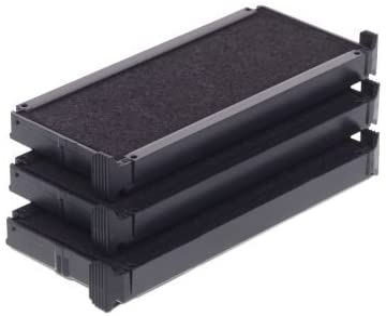 pack of 3 Color black Trodat Replacement Ink Cartridge 6//4910