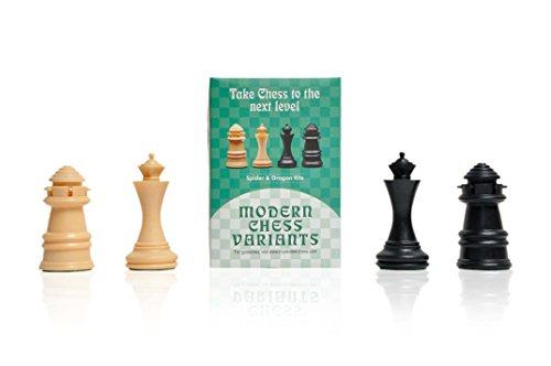 Dragón o Amazona y Araña (Dragon or Amazone and Spider), Ajedrez de Mosquetero (Musketeer Chess), 4 Piezas de ajedrez