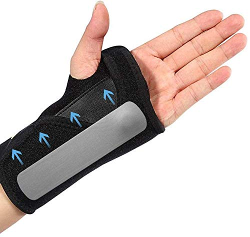 Handgelenkbandage Handgelenkstütze Doact Handgelenkschiene für Karpaltunnelsyndrom Verstauchungen beim Sport Sehnenscheidenentzündung Arthritis, Handbandage Handgelenk Schmerzlinderung, Links