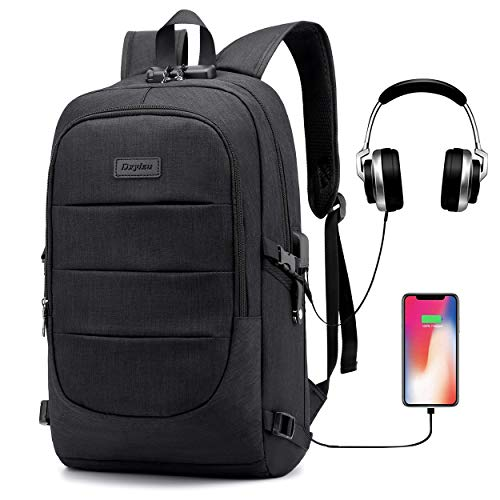 15.6in Laptop Backpack,Anti Theft Waterproof Travel Backpack USB Charging Port